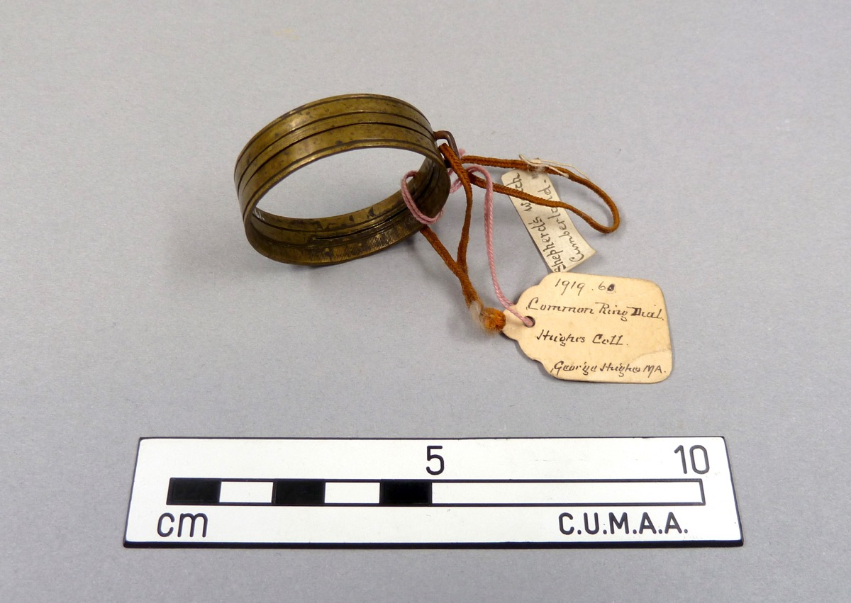 Post-medieval sundial in the shape of a ring