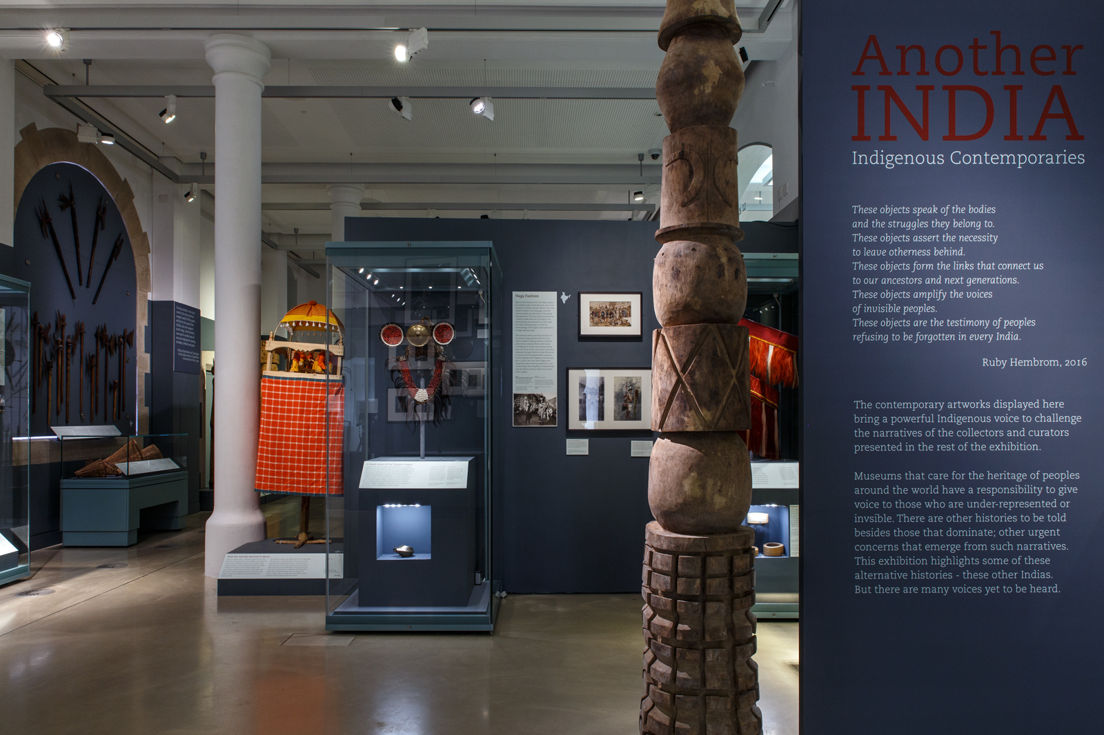 A view of the gallery in which the exhibition Another India was displayed