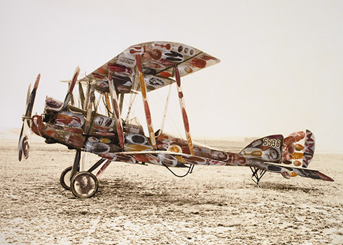 Archival giclee print by Rebecca Jewell, of a BE12 plane titled 'The Bird Man of Salonika'