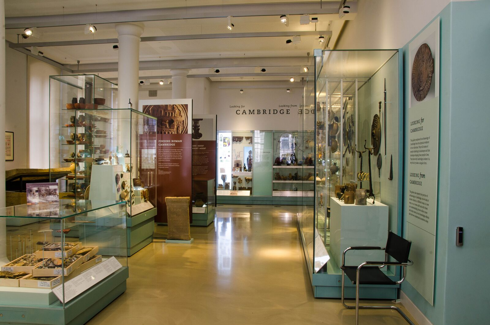 A view of the Clarke Gallery at MAA