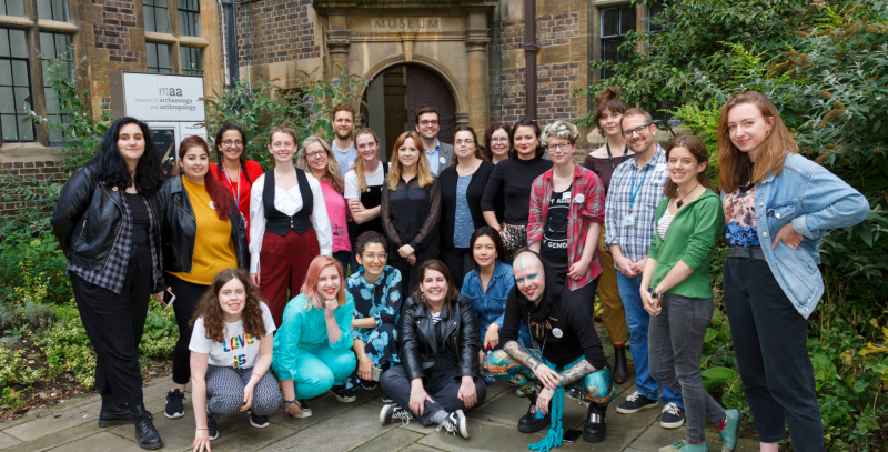 A photograph of the Museum Remix Team outside MAA, 2019