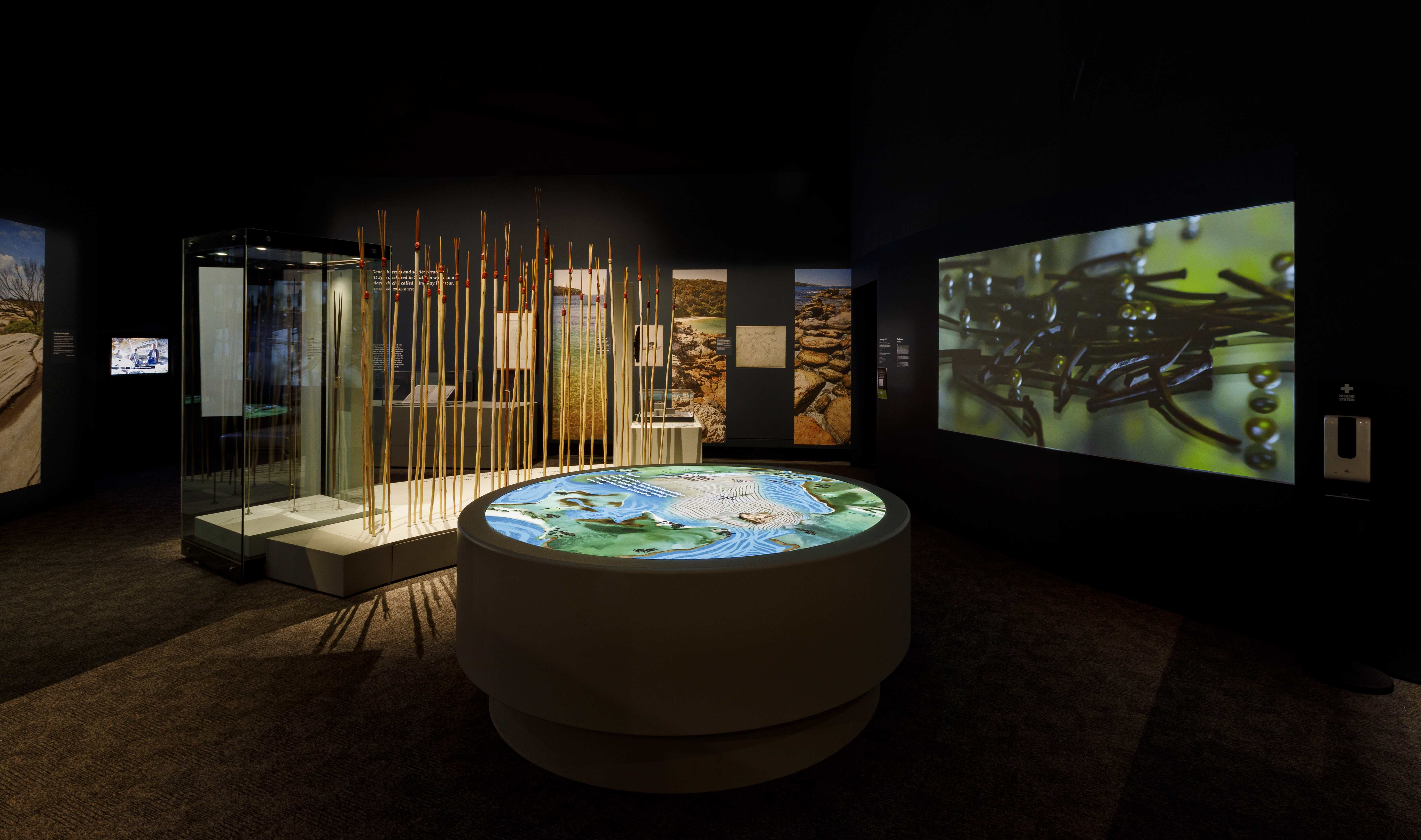 Gweagal spears on display at the National Museum of Australia, 2020-21