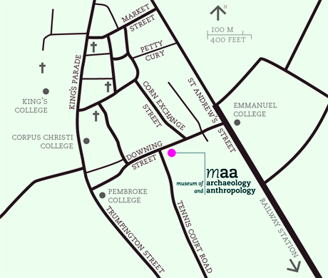 A map depicting the location of MAA