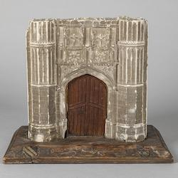 Model of the old gateway, King's College, Cambridge.