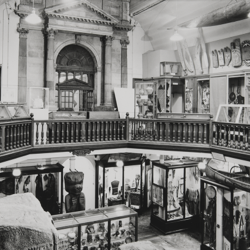 A black and white photograph of the Maudslay and Andrews Galleries, circa 1975