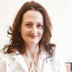 A colour photograph of Rachel Hand, Anthropology Collections Manager, MAA